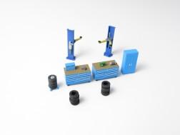 H0 - Car repair shop equipment