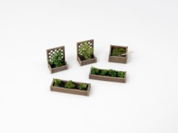 N - Wooden flower beds
